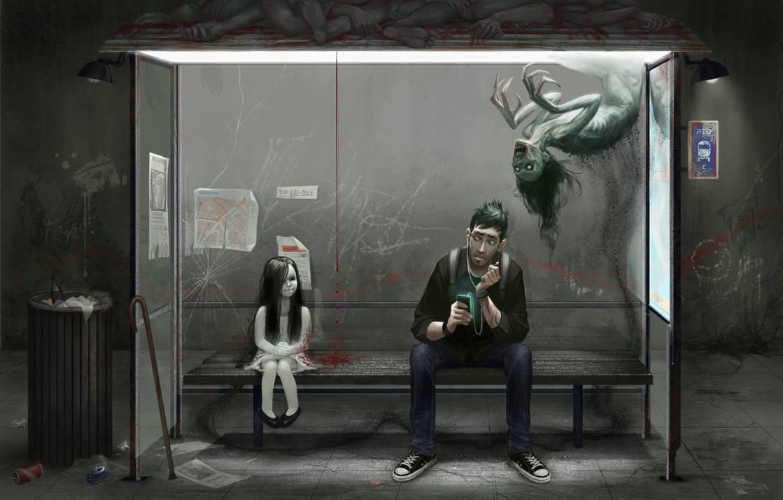 Waiting at the wrong bus stop by david-sladek