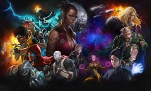 Darkfire Galaxies character spash screen