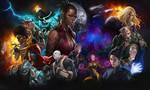 Darkfire Galaxies character spash screen by david-sladek