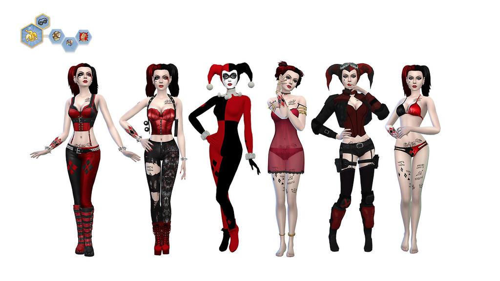 TS4 Harley Quinn Classic Sim by MissTex89