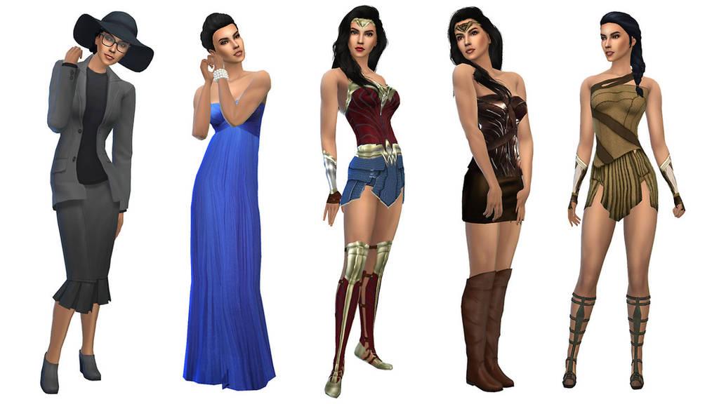 TS4 Wonder Woman Sim CC 1 by MissTex89