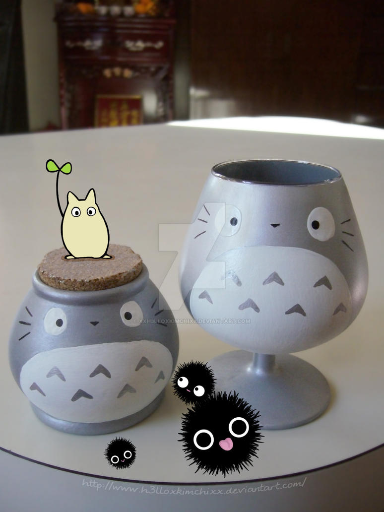 Totoro Wine Glass by XxH3LLOxKiMCHixX