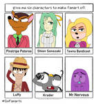Six Characters Fanarts 2 by Iza-the-Artist