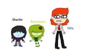 Sharlin, Nilo,and Rosemary Cupheads ocs