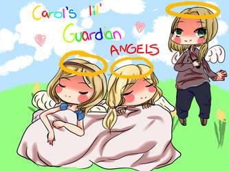 Carol's lil' Guardian Angels by frostyskeleton