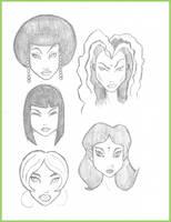 Character Studies 1 by Digital-Jedi
