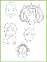 Character Studies 2 by Digital-Jedi
