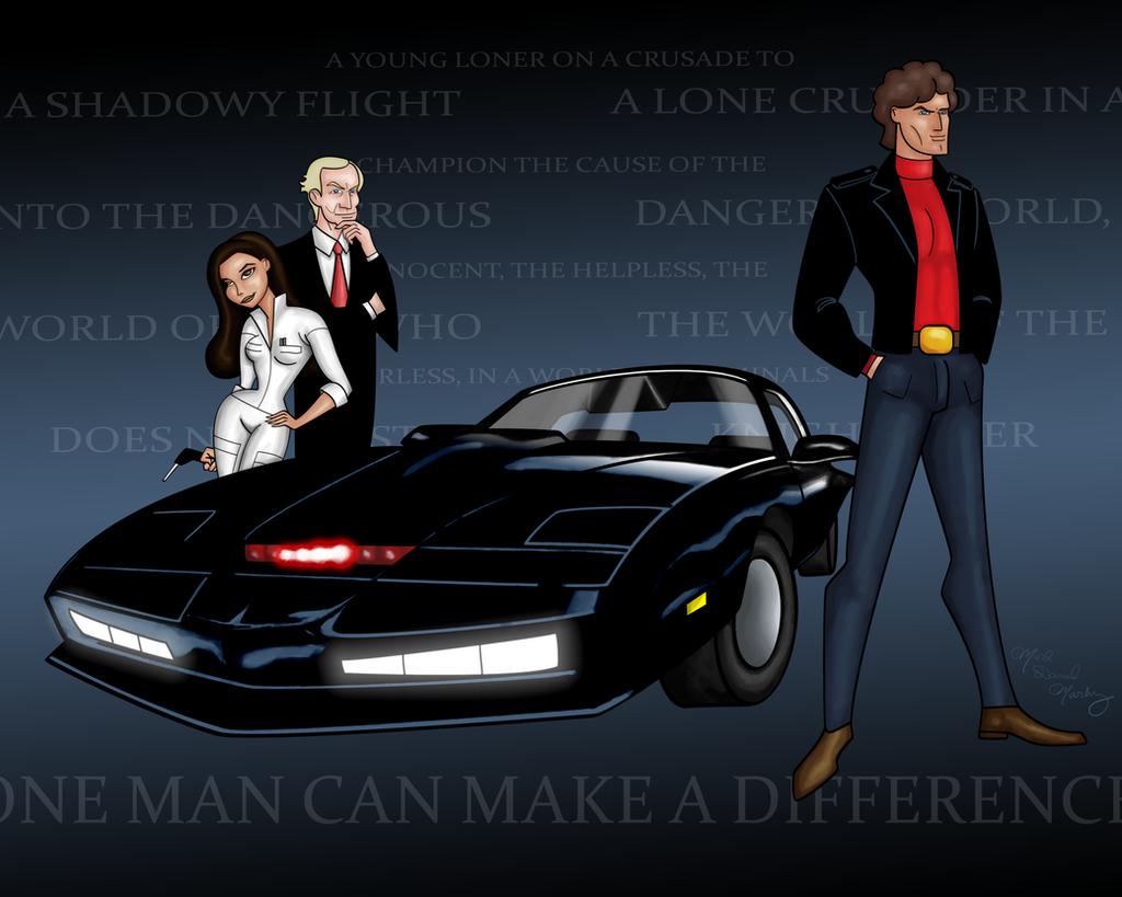 knight rider the animated series by digitaljedi on