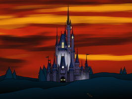 Dusk Cinderalla's Castle|Android Wallpaper by Digital-Jedi