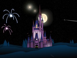 Night Cinderalla's Castle|Android Wallpaper by Digital-Jedi
