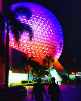 Epcot at Night :: Cast Members in Love