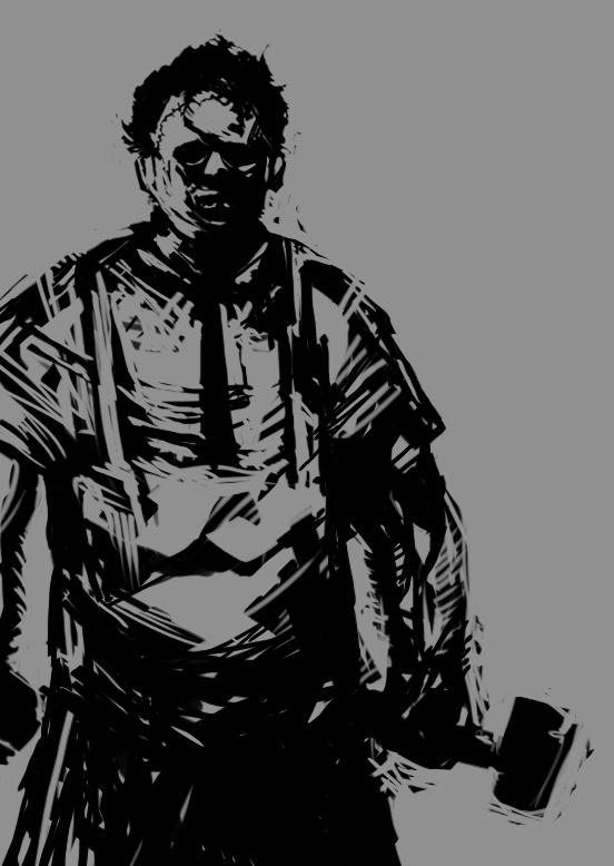 Leatherface painting speed paint leatherface by