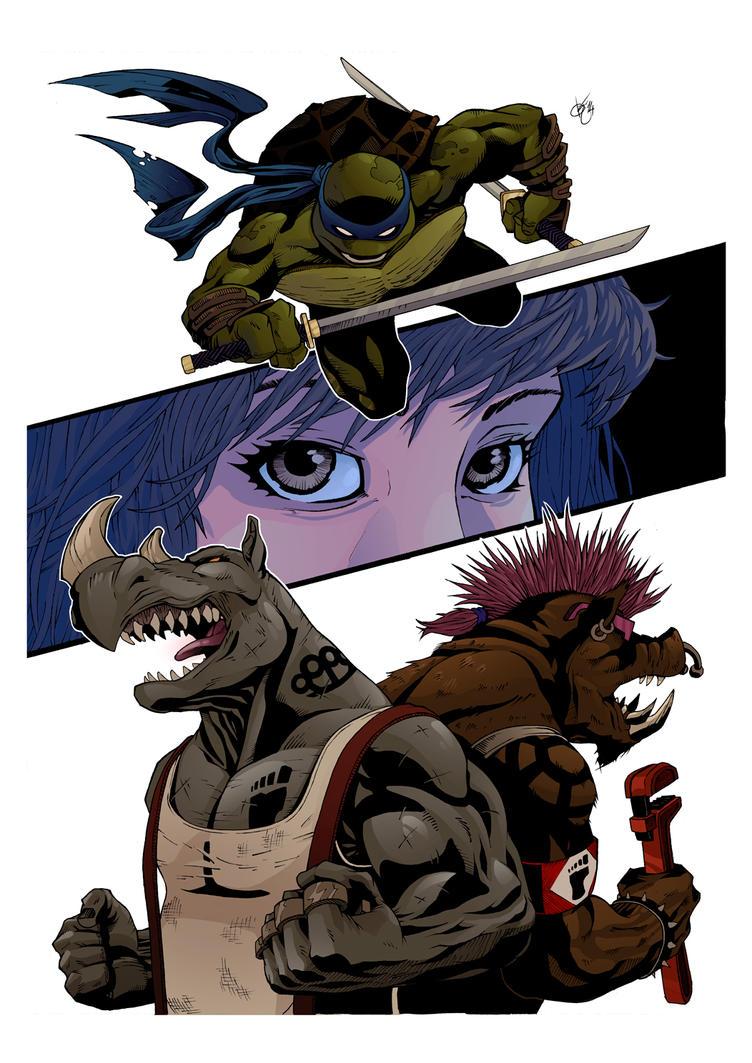 TMNT (Rocksteady and Beebop) by KePafrenico
