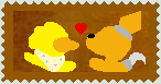 Chica X Foxy (Fnaf) Stamp by Ask-Splash-Sparkz