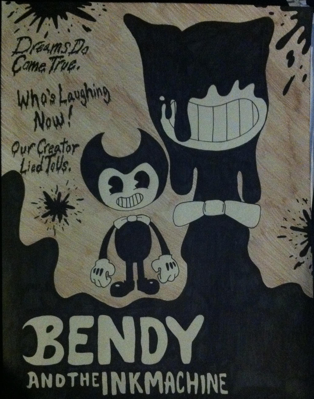 bendy and the ink machine skin