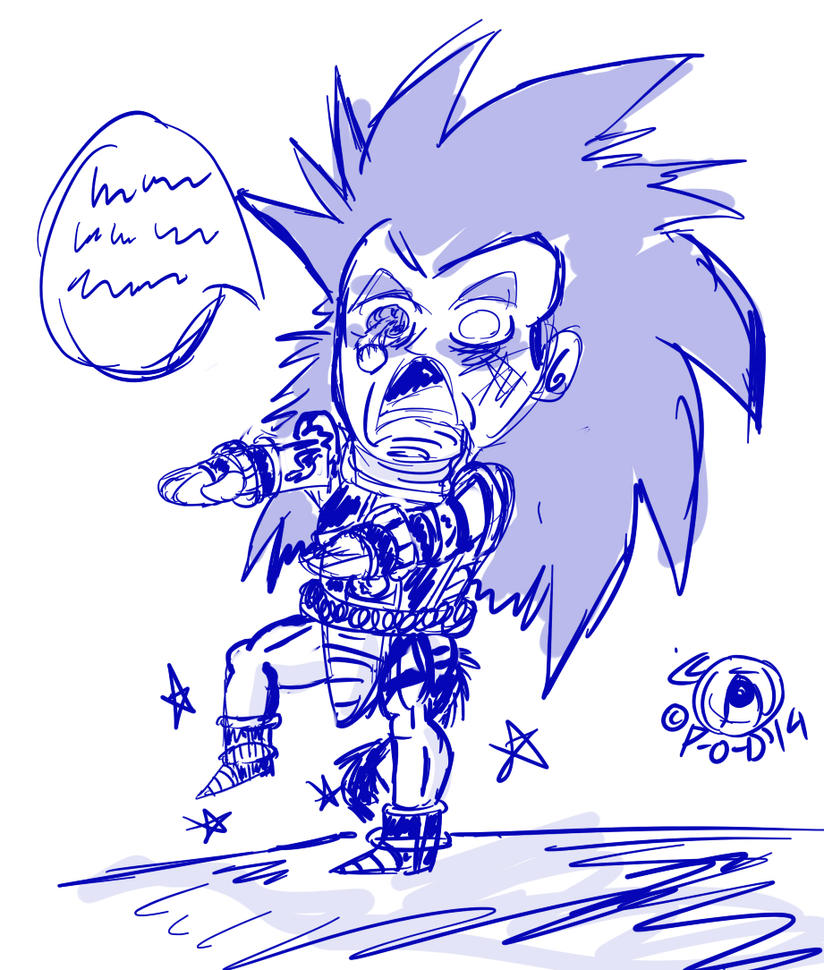 Perfect leg chibi zombie Raditz by Paradise-of-Darkness