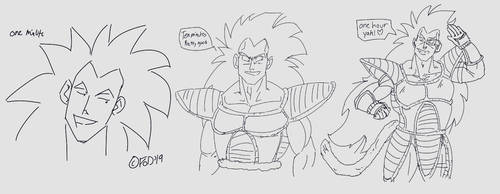 1 minute, 10 minutes, 1 hour project of raditz by ParadiseofDarkness