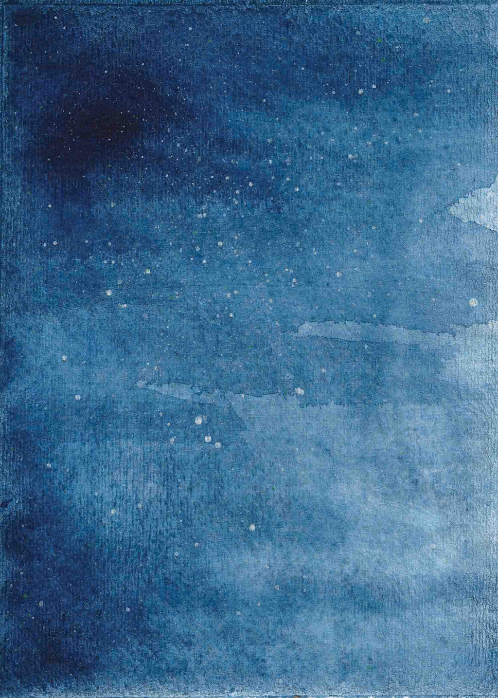 Blue Abstract Watercolor by Xandoval