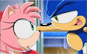 sonic and amy by BlazetheCat1445