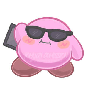 kirby summer sticker comission