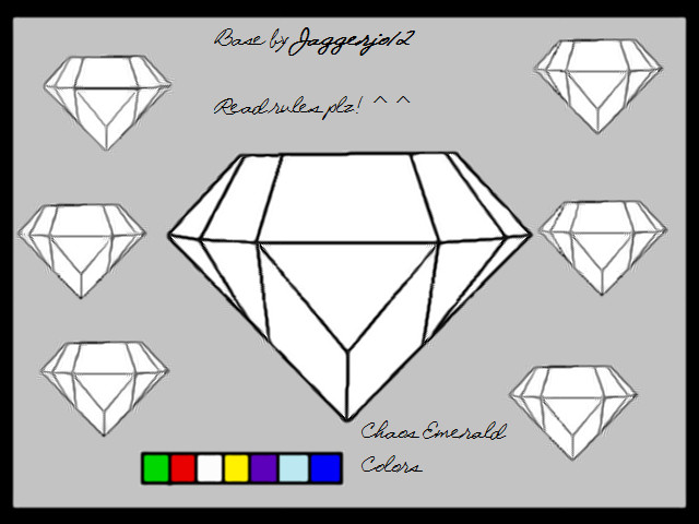 chaos emerald coloring pages - photo#9