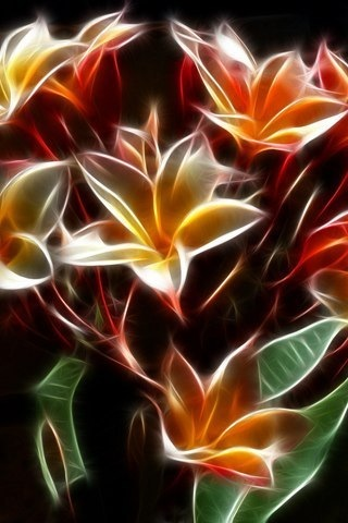 neon flowers by jaggerjo12 on deviantart