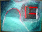 Abstract Oil Finger Painting
