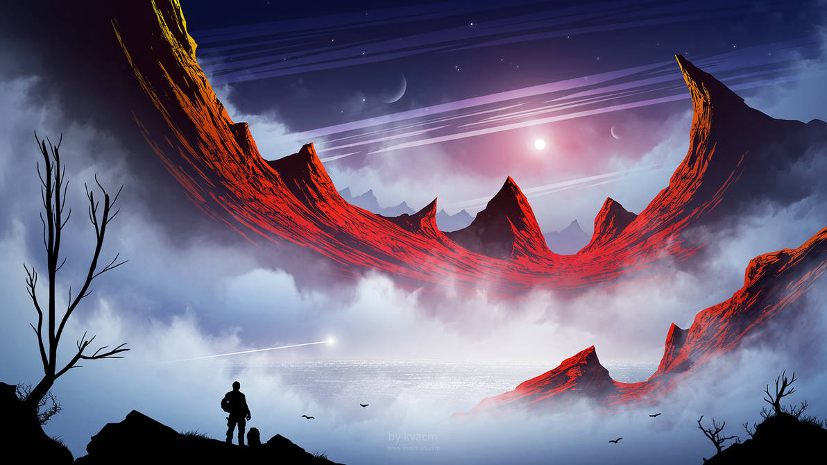 Scarlet Rocks by kvacm