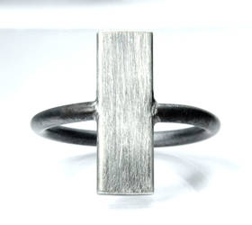 Vertical Plank Ring in Sterling Silver by Abish-Essentials