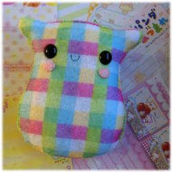 Checkered Felt Plushie by Keito-San