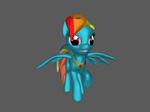 3D Rainbow Dash by MixietheDogFurry
