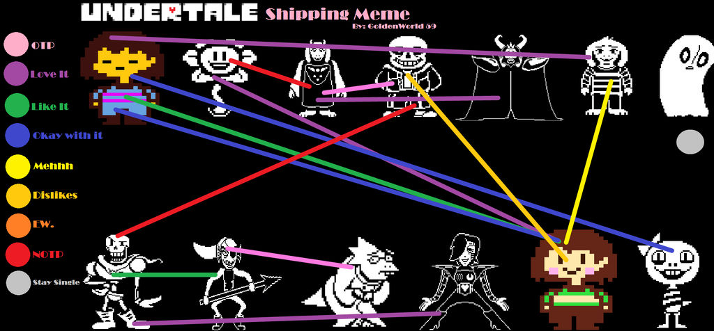 My Undertale Ships By MixietheDogFurry On DeviantArt