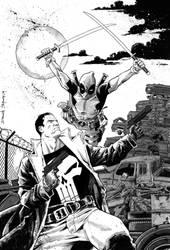 Punisher vs Deadpool -greywash