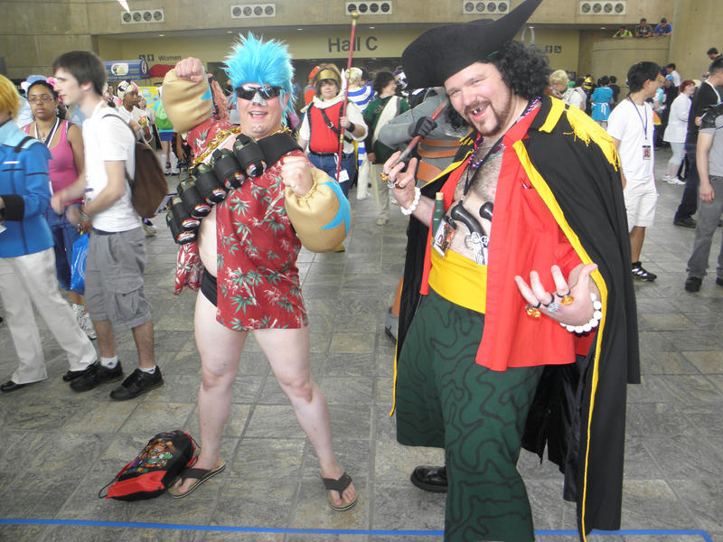 Otakon 2012 - Franky and Blackbeard by mugiwaraJM