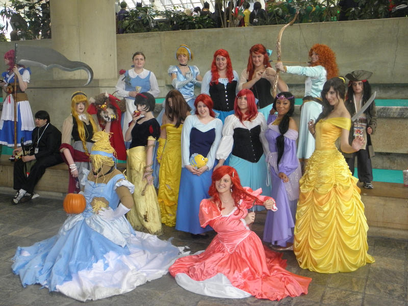 Otakon 2012 - Disney Princesses by mugiwaraJM