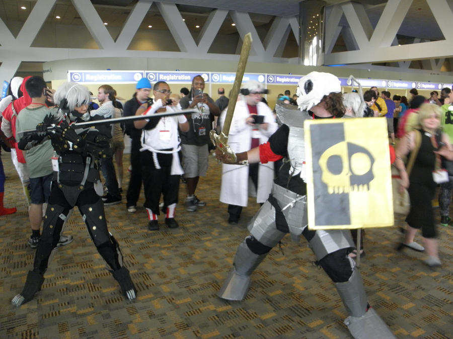 Otakon 2013 - Sir Daniel vs. Raiden by mugiwaraJM