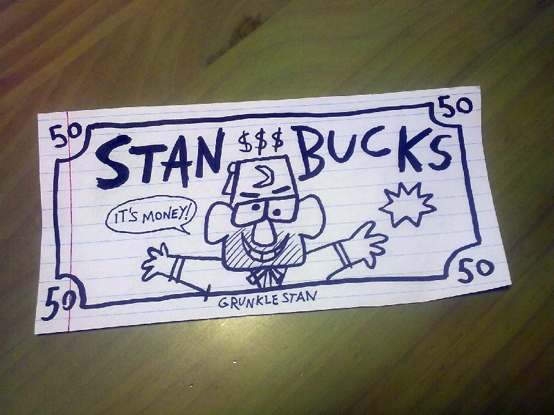 Gravity Falls 50 Stan Bucks By Malleys On Deviantart