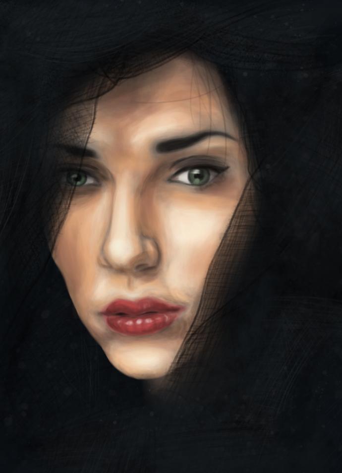 Black veil by Malleys