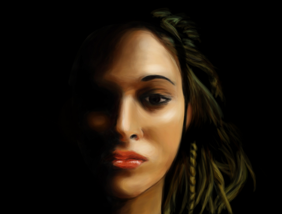 Face and shadow by Malleys