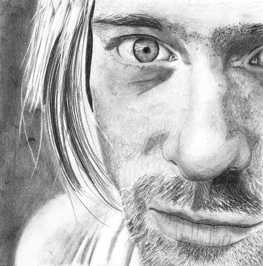 It's just a picture of Zany Drawing Of Kurt Cobain