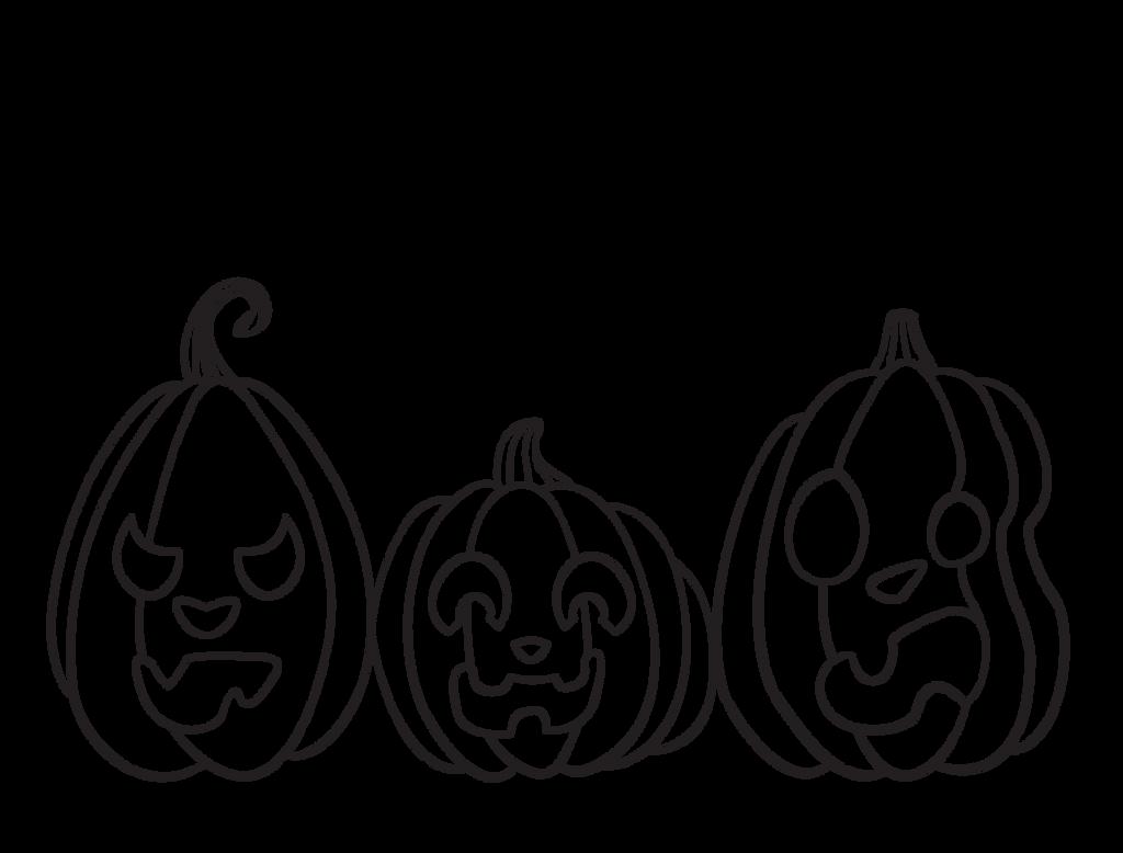 Line Art Halloween : Free halloween pumpkins line art by ecstaticdismay on