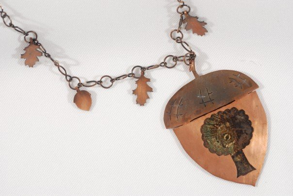 Acorn y necklace by m rusty on deviantart for Acorn necklace craft