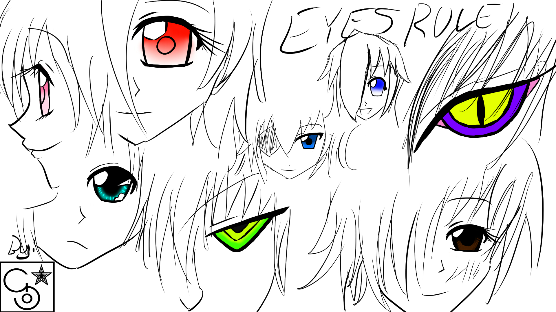 how to draw innocent anime eyes