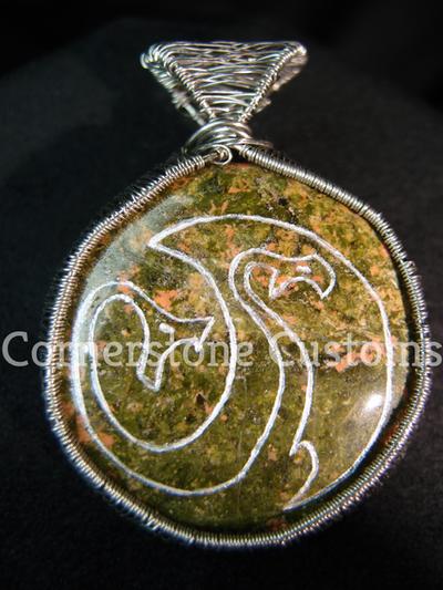 For Sale Hideous Zippleback Stone Crest Pendant By