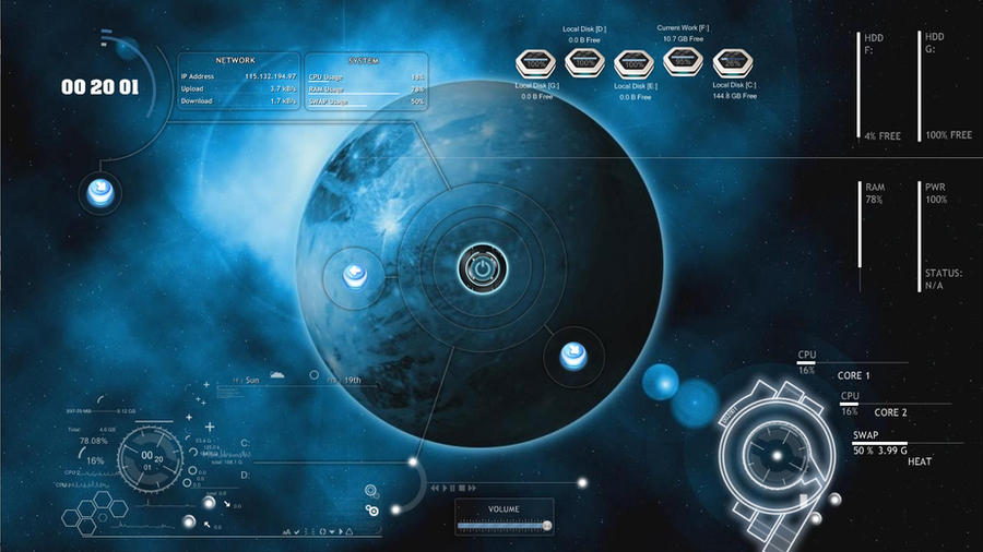Rainmeter alien space by mufabimano on deviantart for Deviantart rainmeter