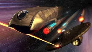 Steampunk Enterprise Shuttle Galileo