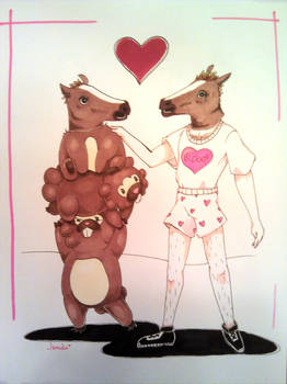 AM^2 2012 Commission - Bidoofs and... horse head?