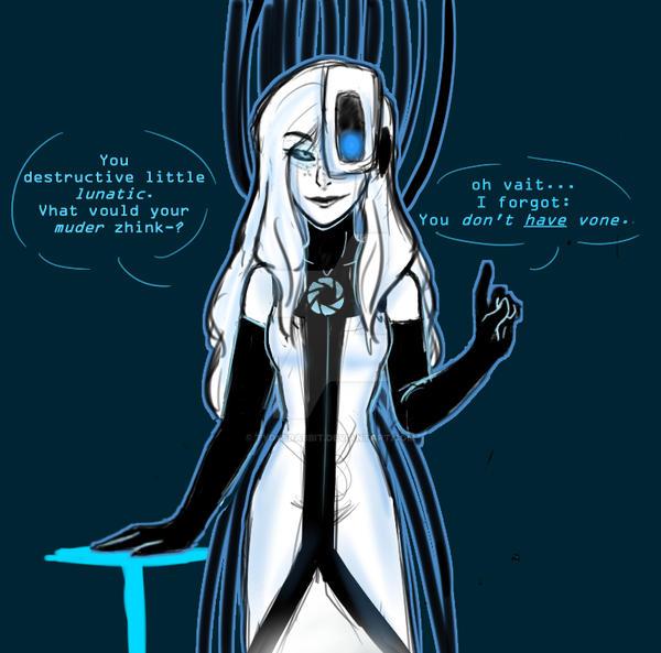Portal 2 Live Wallpaper: Viktoria Aka 'VLaDOS' By TyDyeRabbit On