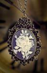 necklace - rose cameo