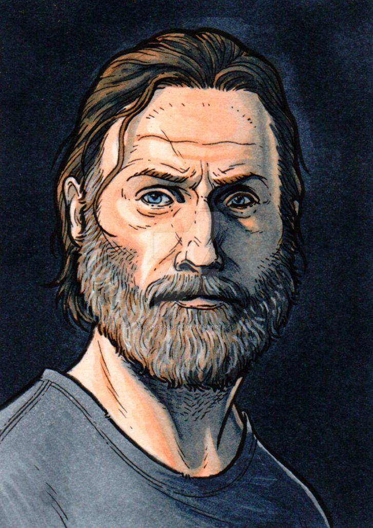 Rick Grimes Sketch Card Commission by monstrous64
